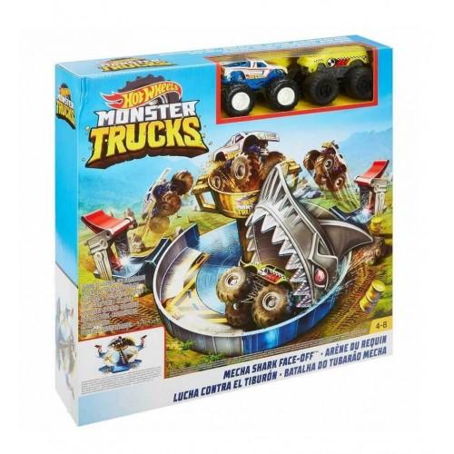Hot Wheels Monster Trucks Mecha Köpek Balığı Çarpışması FYK14