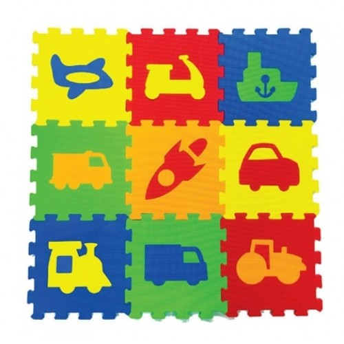 Akallı Oyuncak Taşıtlar Yer Karosu 33x33cm 05-671
