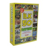 Flash Cards İlk 50 Hayvan (Diy-Toy Yayınları)