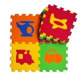 Akallı Oyuncak 10mm Taşıtlar Puzzle Mat 05-336