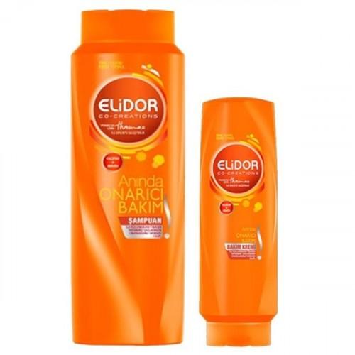 Elidor Şampuan Onarıcı Bakım 550 ml + Saç Kremi Onarıcı Bakım 200 ml
