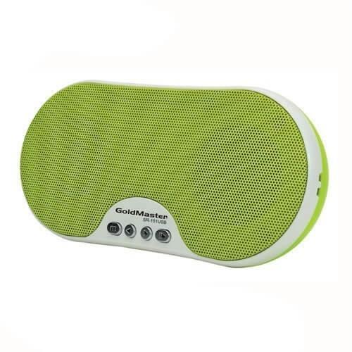 Goldmaster SR-151 USB Taşınabilir Hoparlörlü Radyolu Oynatıcı (Yeşil)
