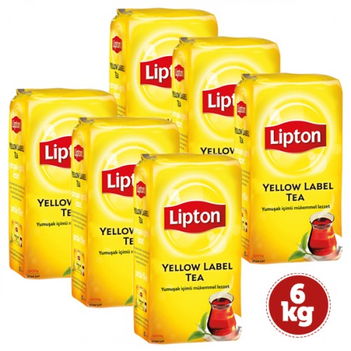 Lipton Yellow Label Dökme Çay 1000 Gr x 6 Adet