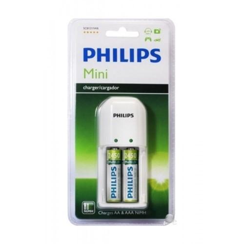 Philips SCB1292WB Şarj Cihazı 2'Li 2450 mAh Şarjlı Pil