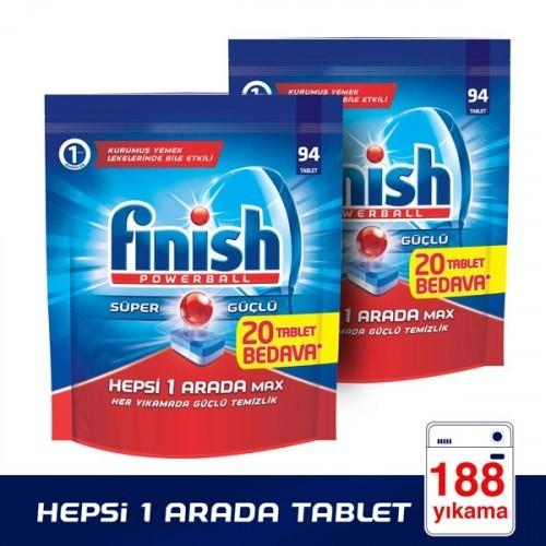 Finish Hepsi Bir Arada Bulaşık Makinesi Tableti 94 lü x 2 Adet