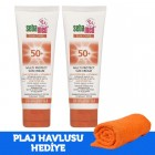 Sebamed 50+ Koruyucu Güneş Kremi 75 ml x 2 Adet (Plaj Havlusu Hediye)