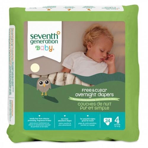 Seventh Generation Bebek Bezi Gece Boyu 4  Beden 24 Adet