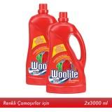 Woolite Sıvı Çamaşır Deterjanı Canlı Renkler 3 lt x 2 Adet