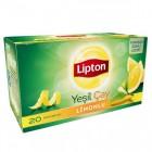 Lipton Bardak Poşet Berrak Limonlu Yeşil Çay 20 li