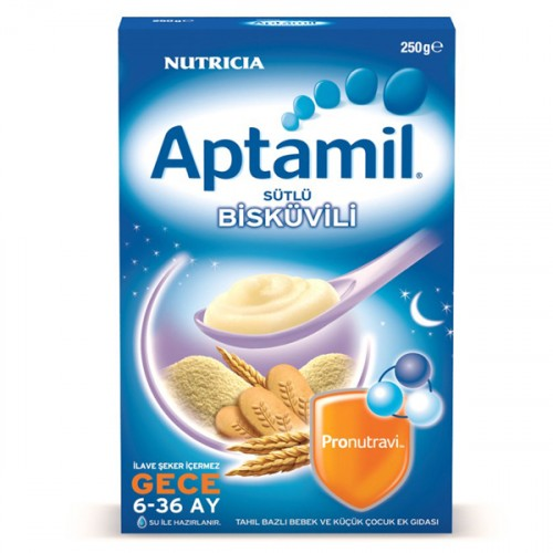 Aptamil Sütlü Bisküvili (Gece) Kaşık Maması 250 gr