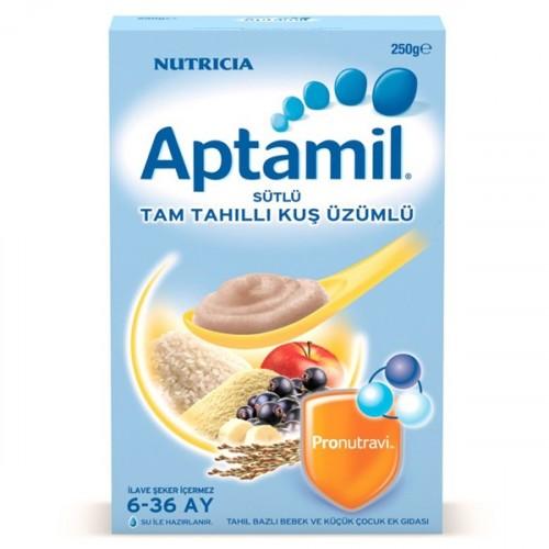 Aptamil Sütlü Tam Tahıllı Kuş Üzümlü Kaşık Maması 250 gr