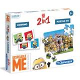 Clementoni Minions-Frozen 2si 1 arada Puzzle 13472-13923