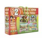 Diy-Toy Yayınları 2 Taraflı Süper Taşıtlar Puzzle 6721