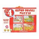 Diy-Toy Yayınları Mevsimler Süper Renkli Puzzle 2488