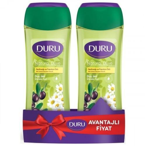 Duru Duş Jeli Natural Olive Zeytinyağı & Papatya 500 ml + 500 ml