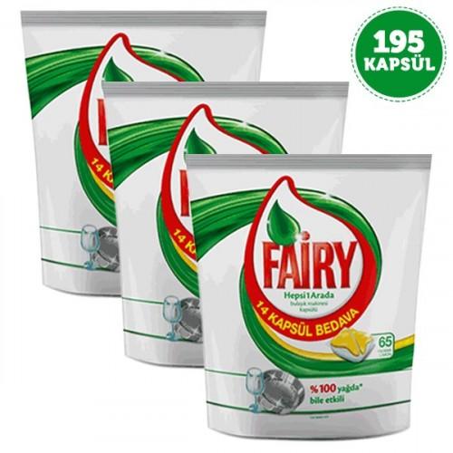 Fairy Hepsi 1 Arada Kapsül Limon 65 li x 3 Adet