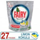 Fairy Platinum Bulaşık Makinesi Kapsülü Limon Kokulu 27 Yıkama