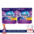 Finish Quantum Tablet 72 li x 2 Adet (Cillit Bang 750 ml Hediye)