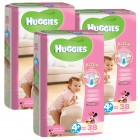 Huggies Bebek Bezi Kız Maxi Plus 4+ Beden 38 li x 3 Adet
