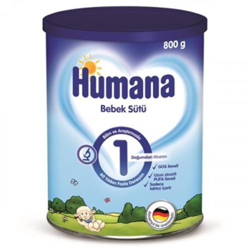 Humana 1 Bebek Maması Metal Kutu 800 Gr