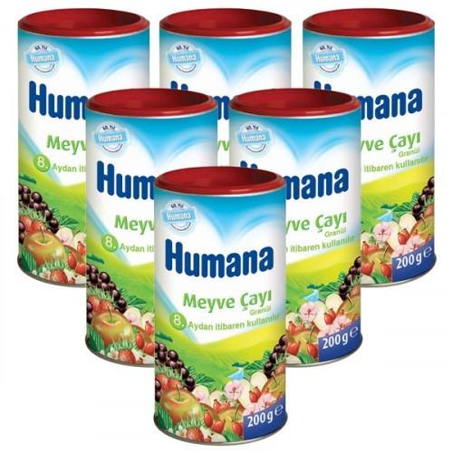 Humana Meyve Çayı 200 gr x 6 Adet