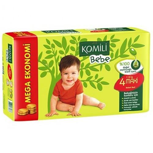 Komili Bebe Jumbo Maxi Bebek Bezi 4 No 45 Li