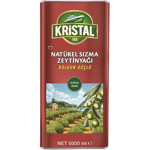 Kristal Naturel Sızma Zeytinyağı Dolgun Güçlü 5 Litre