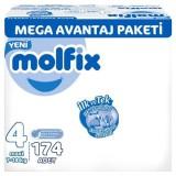 Molfix Bebek Bezi Mega Avantaj Paket Maxi 4 No 174 lü