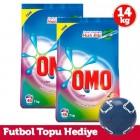 Omo Matik Toz Deterjan Color 7 kg x 2 Adet (Futbol Topu Hediye)