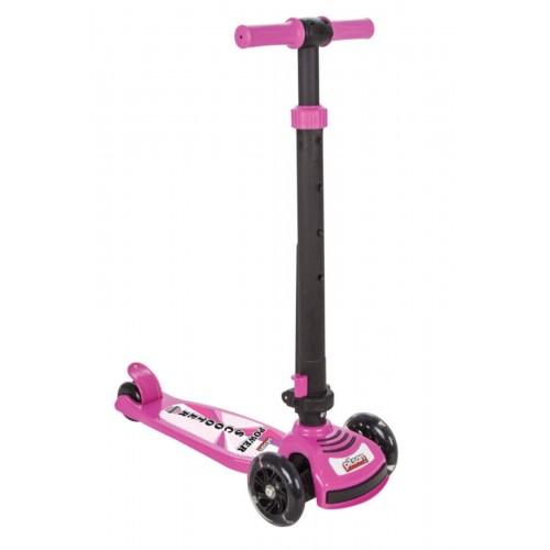 Pilsan Power Işıklı Scooter Pembe 07-354