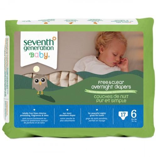Seventh Generation Bebek Bezi Gece Boyu 6  Beden 17 Adet