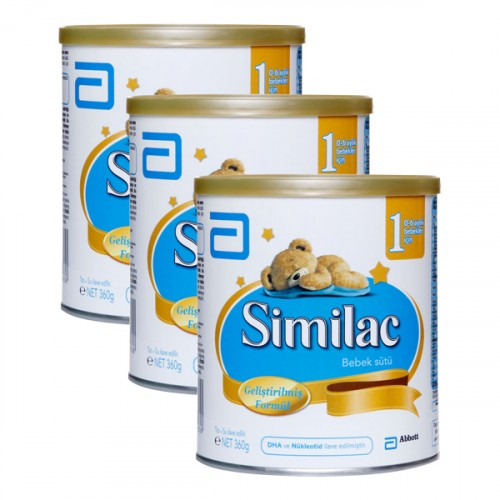Similac 1 Bebek Sütü 360 gr x 3 Adet