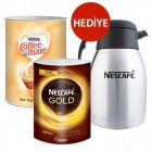 Nescafe Gold 900 gr + Coffea Mate 2 kg (Termos Hediye)