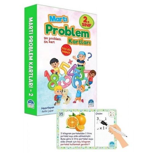 2. Sınıf Problem Kartları - Yaz Sil Kalemli - Refik Çapar