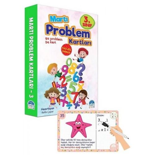 3. Sınıf Problem Kartları - Yaz Sil Kalemli - Refik Çapar