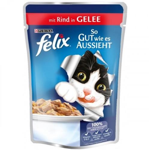 Felix Sığır Etli Pouch Yaş Kedi Maması 100 Gr