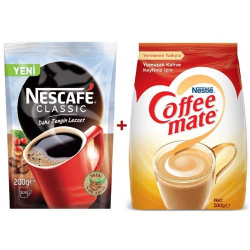 Nescafe Classic Poşet 200 gr + Nestle Coffe Mate 500 gr
