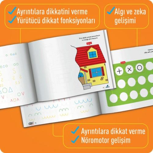 Okuldan Önce Serisi - Dikkatli Çizgiler (5-7 Yaş) - Osman Abalı