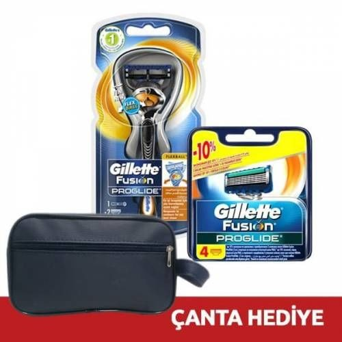 Gillette Proglide Flexball Makine + 6 Yedek (Çanta Hediye)