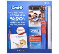 Oral-B Çocuk Şarjlı Diş Fırçası D12 Star Wars (Kitap Hediyeli)