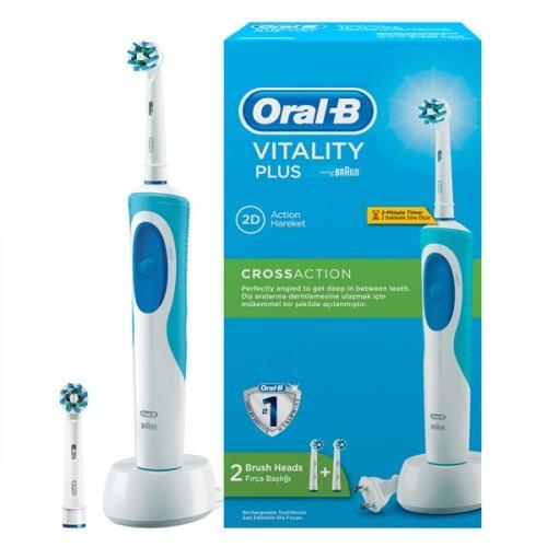 Oral-B D12 Cross Action Şarjlı Diş Fırçası (2 Yedek Başlıklı)