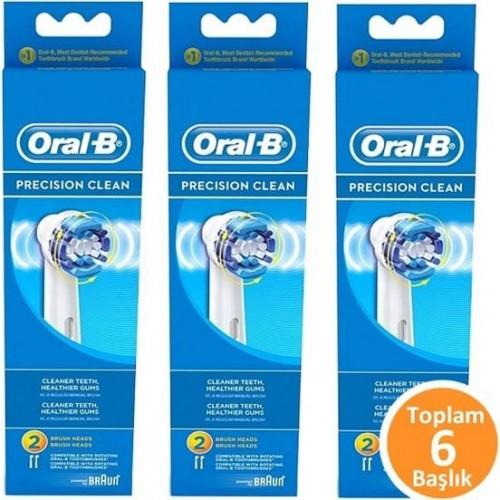 Oral-B Diş Fırçası Yedek Başlığı Precision Clean 2 li x 3 Adet
