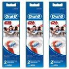 Oral-B Stages Çocuklar İçin Diş Fırçası Yedek Başlığı Star Wars 2 li x 3 Adet