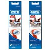 Oral-B Stages Çocuklar İçin Diş Fırçası Yedek Başlığı Star Wars 2 li x 2 Adet