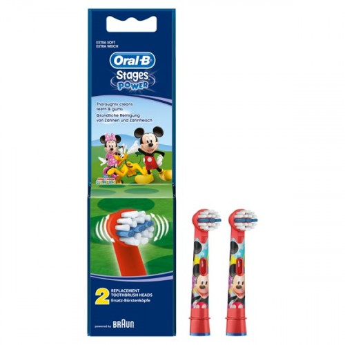 Oral-B Stages Power Diş Fırçası Yedeği 2'li Paket (MICKEY MOUSE)