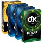 Okey 40 lı Karma Set (1 Rötar 10lu - 2 Klasik 10lu - 1 Hisset 10lu)