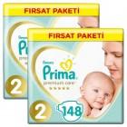 Prima Bebek Bezi Premium Care 2 Beden Mini Fırsat Paketi 296 Adet