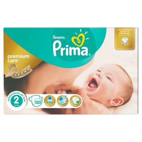Prima Bebek Bezi Premium Care 1 Beden 126 li + 2 Beden 120 li