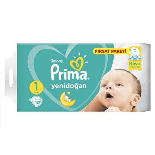 Prima Bebek Bezi Fırsat Paketi 1 Beden Yenidoğan 112 li