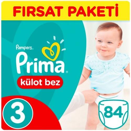 Prima Külot Bebek Bezi 3 Beden Midi Fırsat Paketi 84 Adet